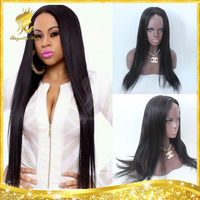 Unprocessed Remy 6a Silky Straight virgin Brazilian wig, Natural Black Full Lace Wig With Baby Hair