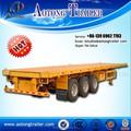 2015 precio de fábrica tri- eje 60 toneladas 40ft contenedores camiones de cama plana remolque/semirremolque/contenedor semi- trailer con giro de bloqueo
