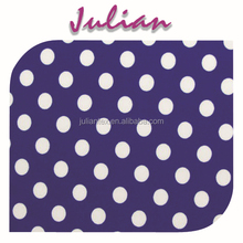 white dot on dark blue poly milk fiber fabric Spandex Fabric 4way strentch