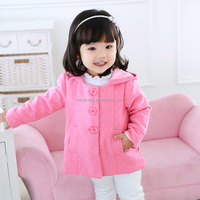 50106 girls thanksgiving outfit cute dress designs dot pink coat for girls fall and winter jacket