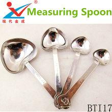 4 pcs heart outline Measuring spoon