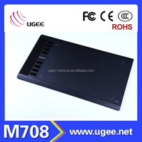 UGEE M708 electronic drawing tablet with Digital Pen Touch Screen