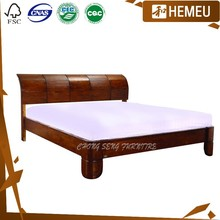 Darkwalnut colour Northern European bedroom design 1.8m french style beds