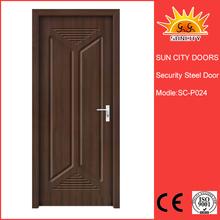 China Factory price single interior pvc mdf door promotion SC-P024
