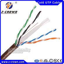 High quality best price 0.5mm/056mm CCA/CCS/CU Cat6 lan cable colour code