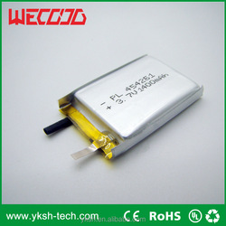 5000mah li ion slim flat 3.7v rechargeable lipo battery for power bank