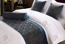 star hotel use king size bed runner/cotton quilted bed runner /size of queen hotel bed runner and cushion cover