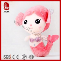 Plush cute mermaid doll soft stuffed mermaid