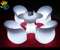 cheap commercial colored acrylic LED lounge furniture