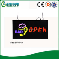 2015 HIDLY new product high brightness of change color led open sign