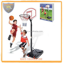Height adjustable outdoor basketball stands for kids