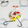 Fishing tackle octopus sabiki rigs with colorful feather JSM12-2054