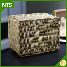 garden decor woven wicker knitting basket