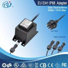eu plug waterproof adapter 12v ac adaptor for Water pump