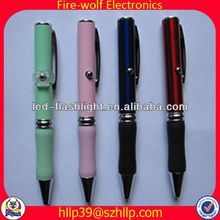 2014 China Supplier New Style Colourful Led Flashing usb flash drive laser pointer ball pen