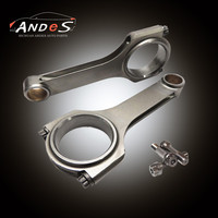 4340 Forged H-Beam Conrods Connecting Rods for Porsche 993 turbo 964 997 996 GT2 3.6 L