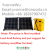 Hot sale & High performance 500W Portable Solar panel generating System