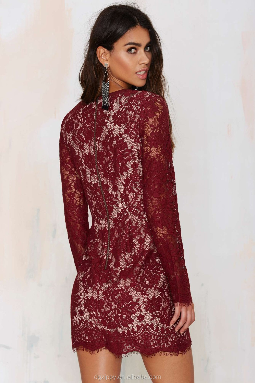 2016 Mode vêtements femmes dentelle robe conception