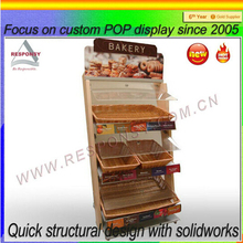 environmental rattan and nature wooden display bread basket