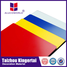 Alucoworld kitchen cabinet design/aluminum coated plastic sheet Aluminium composite panel(ACP)