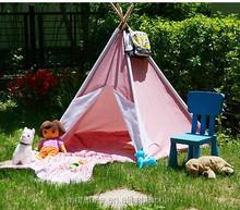 Crianças tenda DIY com madeira pólos da barraca
