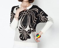 latest western style new design crewneck girls fancy sweater