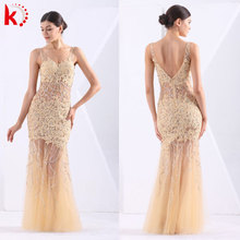 Glamour embroidered beaded elegant backless evening dress galaxy sequins bridesmaid dress party dress pattern