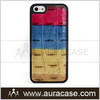 Crocodile Pattern Genuine Leather Cover for iPhone5