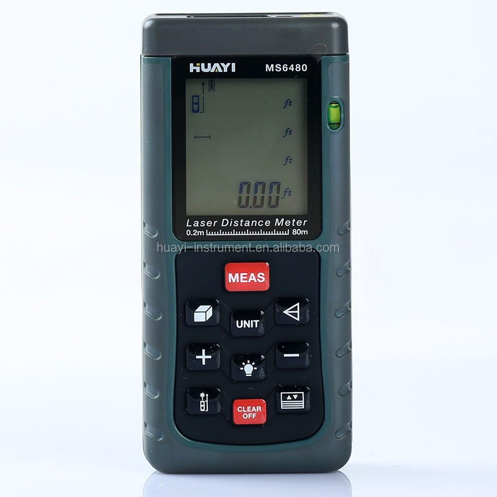 Indoor And Outdoor Min Digital Laser Distance Meter Ms6480 20m 40m 60m 80m 100m Laser Measurer