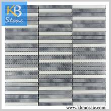 Long Stripe Polished Italy Grey glass tile borders
