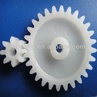 Customised oem cnc plastic gears and shaft