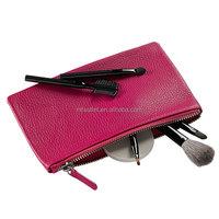 luxury finest nappa Leather Cosmetics Case
