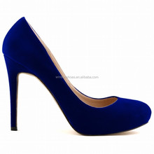 2015 fashion fake suede high heel dress shoes for ladies