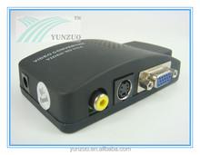 AV/RCA to VGA Video Converter, AV/S-VIDEO to VGA, PAL/NTSC to VGA Converter