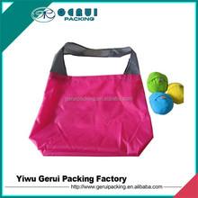 Ball shape foldable polyester bag