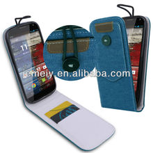 Cowboy Flip Leather Case for Motorola MOTO X with card slots