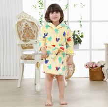 Solid Bear head printing pattern hooded fleece Winter warm sleepwear for children