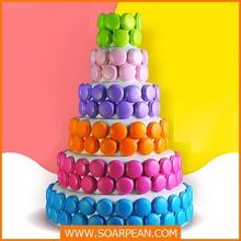 Wedding Decoration Colorful Artificial Macarons Cake