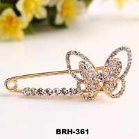 Scarf Pin Brooch High Quality Butterfly Hijab Pins Scarf Muslim Fixed Fancy Safety pin