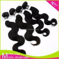 Sexy body wave grade 7a 100% virgin raw natural indian hair
