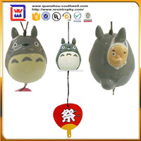 porclain widow decorative cat shape windbell and cute aeolian bells and antique ceramic Wind chime for sale
