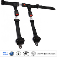 Racing car 4 point harness seat belts