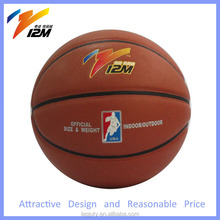 official size 7 PU basketball indoor&outdoor for training and match