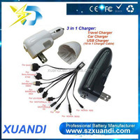 Multi pin mobile phone charger car charger with 10 connectors