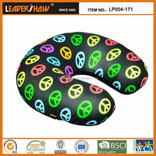 cheap printing micro beads travel neck pillow/hot selling polystyrene foam beads pillows/soft personalized travel neck pillow