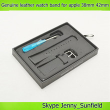 tool set genuine leather watch band for apple watch 38mm 42mm , for apple watch strap