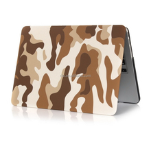 Camo Brown Pattern Rubberized Hard Case Cover for Macbook Air Model: A1370