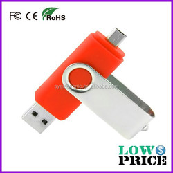 OEM wholesale OTG USB metal 8 gb flash drive 3.0 for Smartphone and computer