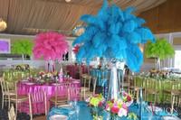 Wedding feather decoration centerpiece