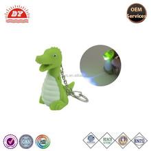 Dinosaur LED Light Key Chain Ring with Sound